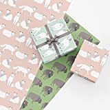 Mountain Animal Gift Wrap Collection, 9 Folded