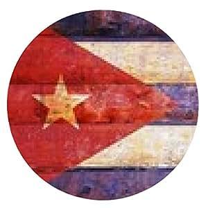 alfombrilla de ratón bandera de Cuba en la madera vieja. - ronda - 20cm