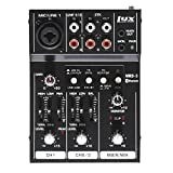 LyxPro MRB3 3-Channel Audio Mixer – Flexible, Compact Personal...