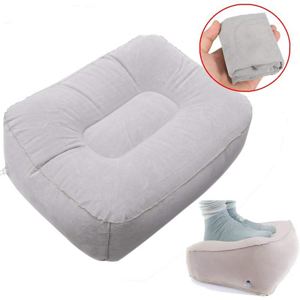 Funwill Inflatable Footrest Pad Stool Train Travel Airplanes Flights Soft Home Relax Footrest Pillow