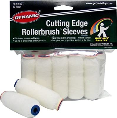 Dynamic HM005913 Cutting Edge Roller Brush Refills, 10-Pack, 3-Inch