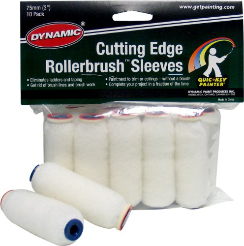 Dynamic Hm005913 Cutting Edge Roller Brush Refills 10 Pack 3 Inch