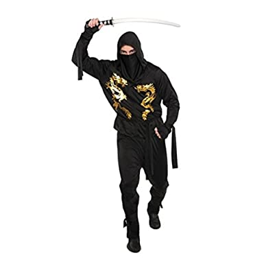 Amazon.com: Christy s adultos Dragón Ninja Costume (Tamaño ...