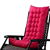Ducarsel Non Slip Chair Cushion Garden Patio Seat Pads Home Kitchen Office Chair Back for Indoor Outdoor (110cmx40cm, Fuchsia)