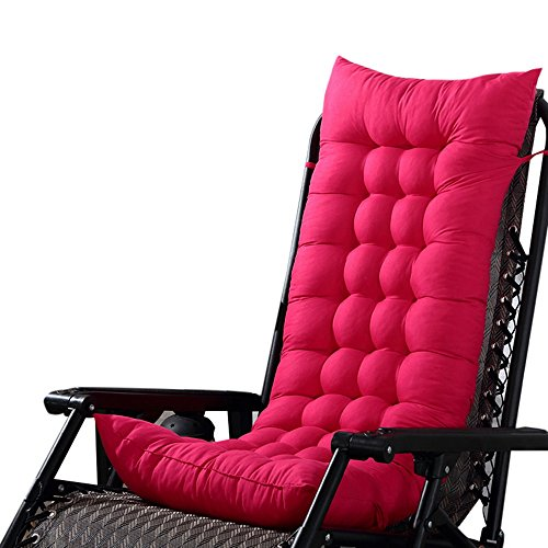Ducarsel Non Slip Chair Cushion Garden Patio Seat Pads Home Kitchen Office Chair Back for Indoor Outdoor (110cmx40cm, Fuchsia) by Ducarsel