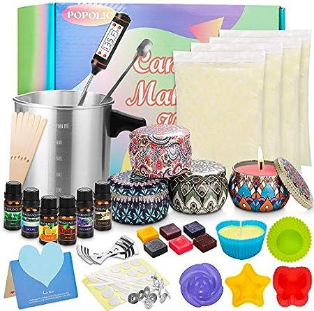 Incluido Todo de Kit de Fabricación de Velas Perfumada - El Kit de Velas Perfumadas DIY contiene tod