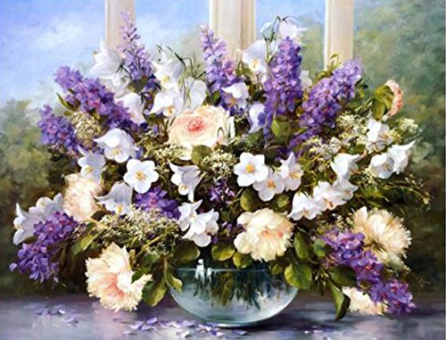 - TINMI ARTS 5D DIY Diamond Painting Kits for Adults Flowers Cross Stitch Rhinestone Embroidery Home Wall Decoration (Flowers of Spring, 50x40cm)