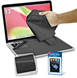 Clean Screen Wizard Microfiber Screen Cleaner and Protector Kit Bundle with 3 Large Cloths / Keyboard Covers in Protective Pouches and Cleaning Sticker for Laptops - 13' Screen