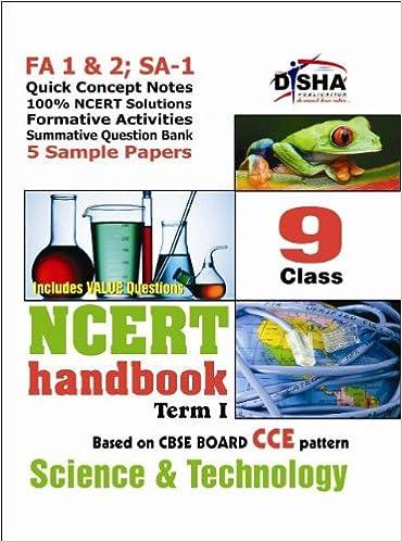 NCERT Handbook Term 1 Science: Class 9 (NCERT Solutions + FA
