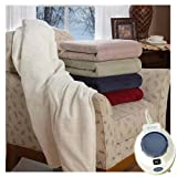 Soft Heat Ultra Micro-Plush Low-Voltage Electric Heated Triple Rib Throw