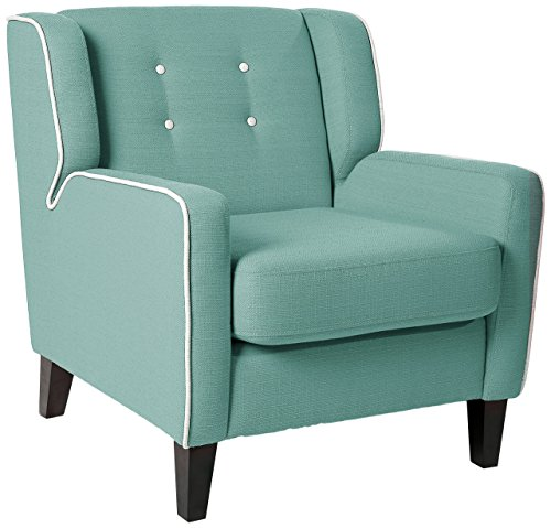 Homelegance 1218 Upholstered Arm Chair, Teal, Fabric - Fabric Swing Arm