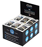 iCloth Large and Multiple Screen Cleaning Wipes - cleaner and protector for a computer monitor, a touchscreen desktop, a TV LED or LCD, aviation and automotive displays | iCA100 | 100 wipe box