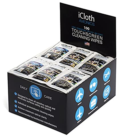 iCloth Large and Multiple Screen Cleaning Wipes - cleaner and protector for a computer monitor, a touchscreen desktop, a TV LED or LCD, aviation and automotive displays | iCA100 | 100 wipe (Bar Speakers For Tv Boss)