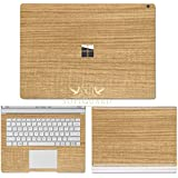 SopiGuard Microsoft Surface Book 2 (15) Carbon Fiber Precision Edge-to-Edge Coverage Easy-to-Apply Vinyl Skin Sticker Wrap (Wood Light)