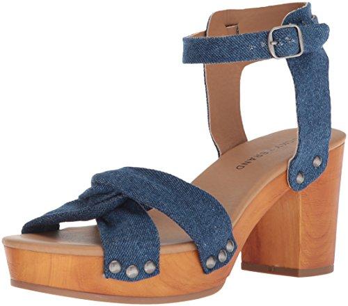 Lucky Brand Women's Whitneigh Heeled Sandal, Indigo, 9.5 Medium - Platform Shoes Lime