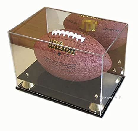 Amazon DisplayGifts Deluxe UV Acrylic Full Size Football Gorgeous Football Stands Display