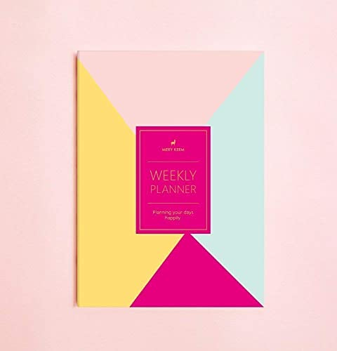 Colorful Retro Weekly Planner (Dateless) • 2019 Weekly Notebook • Agenda • Diary • Bridesmaid Gift • Travel Planner • Travel Planner • To do List • ...