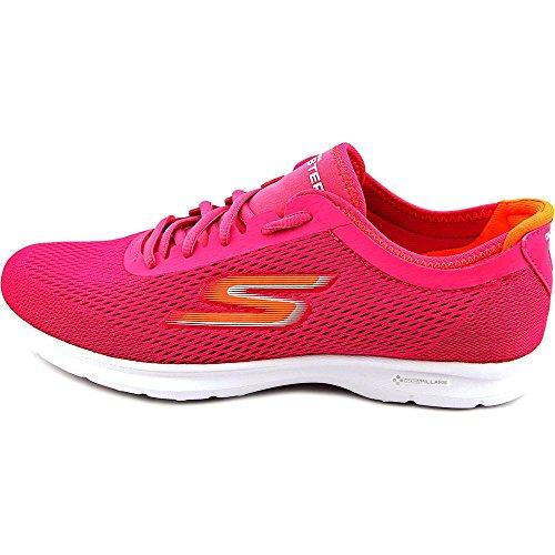 Skechers Performance Women's Go Step Lace-Up Walking Shoe,H Pink/Orange,7.5