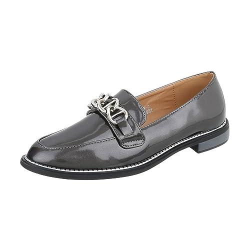 Ital Design Slipper Damen Schuhe Blockabsatz Halbschuhe