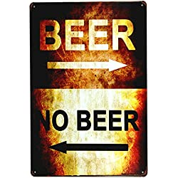 DL-beer or no beer tin sign iron painting Art poster Garage Shop cafe bar home wall decor