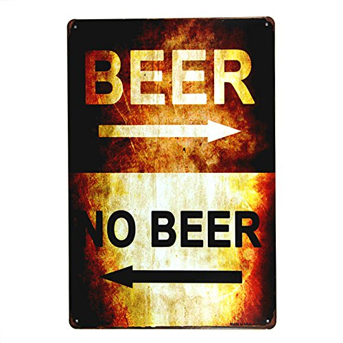 dingleiever-Beer or no Beer tin Sign Iron Painting Art Poster Garage Shop Cafe bar Home Wall Decor