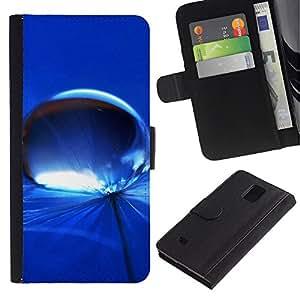 All Phone Most Case / Oferta Especial Cáscara Funda de cuero Monedero Cubierta de proteccion Caso / Wallet Case for Samsung Galaxy Note 4 IV // Blue Water Drop 7