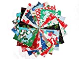 """80 5"""" Beautiful Christmas Charm Pack # 1- 20 DIFFERENT PRINTS-4 OF EACH #1"""