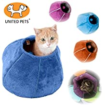 United Pets Kitty Cat Cozy Cave & Bed (Orange)