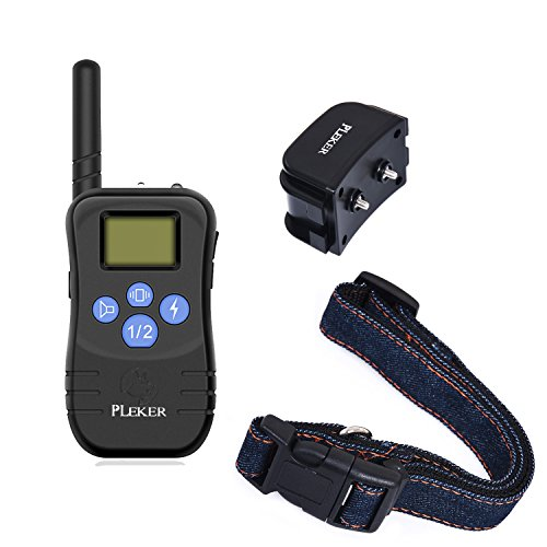Pleker 328 Yard Remote Control Dog Training Shock Collar Bark Correction Collar For Home Puppy Pet Training Behavioral Aids