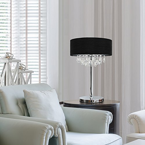 Crystal candelabra table lamps