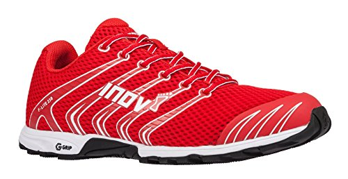 Inov-8 Unisex F-Lite 230 | Original Cross Training Fitness Athletic Sneaker | Minimalist Trail and Road Running Racing Flat Shoe | Red/White 10.5 M UK