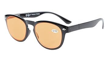 667b9ffc527340 Eyekepper - Lunettes de lecture avec protection UV - Style vintage -  Ordinateur +0.00 noir
