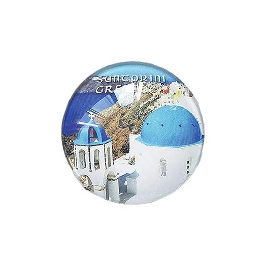 3D Santorini Grecia Frigorífico Imán de Nevera Cristal de Cristal ...