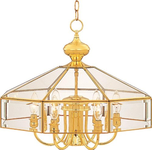 Stone Foyer Country - Maxim 90330CLCS Bound Glass 7-Light Chandelier Country Stone Clear Glass