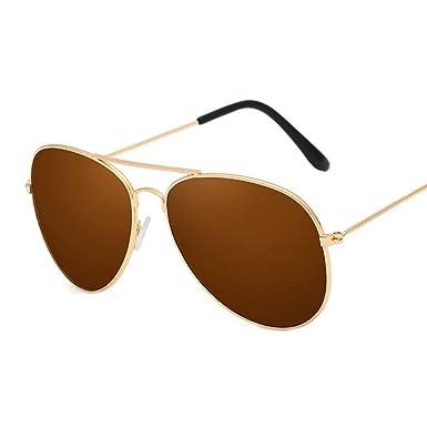 Vi.yo Gafas de sol Anti UV Película de color Marco dorado ...