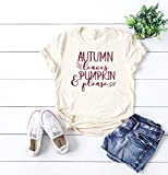 cute women's t-shirt women's fall t-shirt cute women's shirt thanksgiving t-shirt hello fall tee cute fall outfit