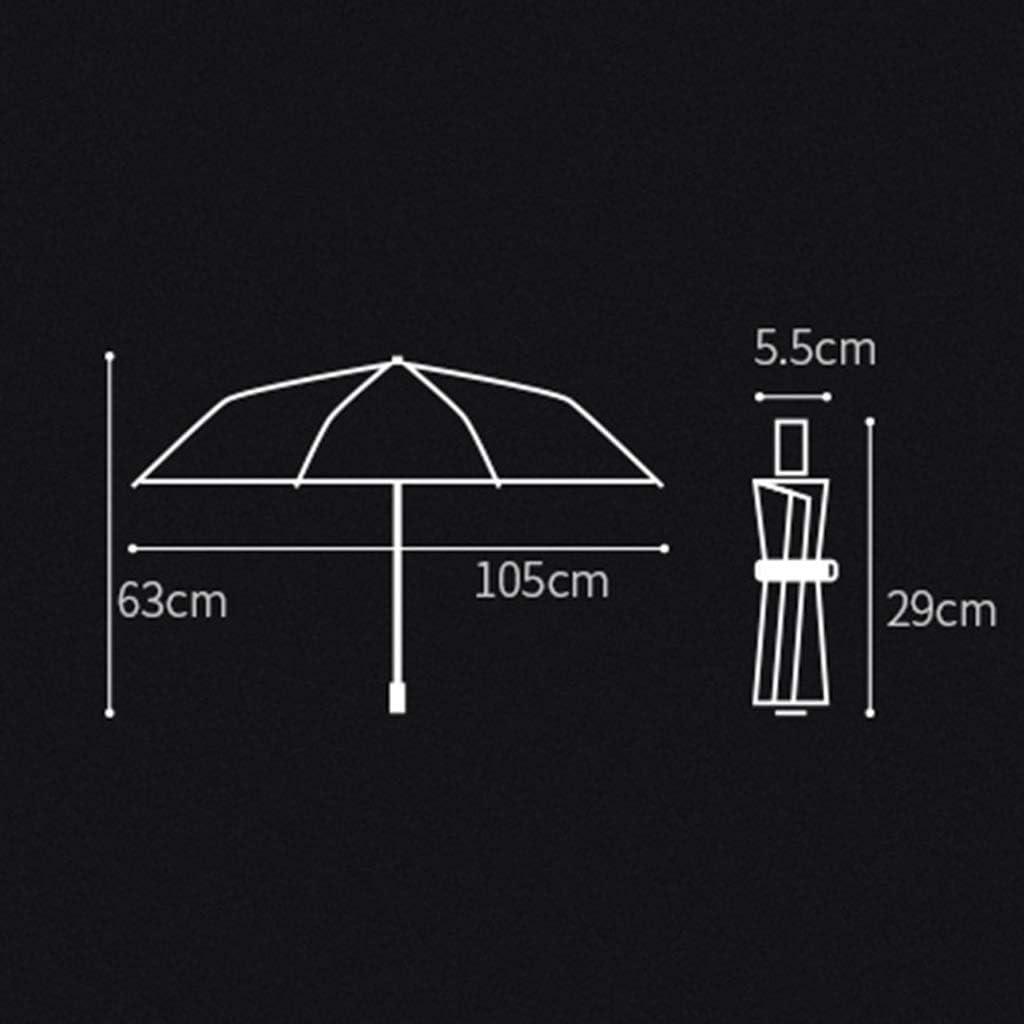 Umbrella Automatic Personality Rain and Rain Dual-use Umbrella 8 Bone Umbrella Stand Three Fold Reinforcement Folding Umbrella