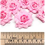 100-Silk-Pink-Roses-Flower-Head-175-Artificial-Flowers-Heads-Fabric-Floral-Supplies-Wholesale-Lot-for-Wedding-Flowers-Accessories-Make-Bridal-Hair-Clips-Headbands-Dress