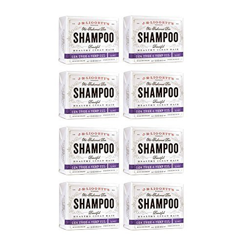 J. R. Liggett Tea Tree Hemp Shampoo Bar (8 Pack)