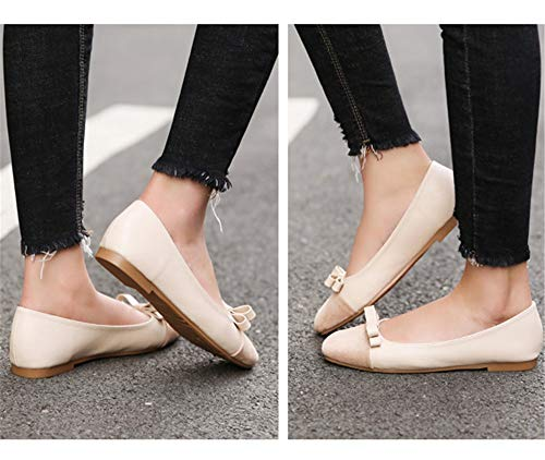 shoes work shoes single comfortable mouth shoes and autumn ladies casual flat shoes shoes slip non fashion FLYRCX Spring EU 38 shallow maternity TB4Sqyy