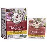 Traditional Medicinals Organic Lemon Echinacea Throat Coat Herbal Tea – 16 Tea Bags