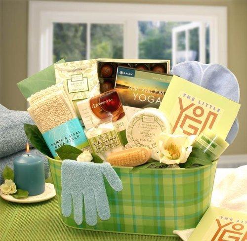 Yoga & Green Tea Essentials Gift Set GiftBasketsAssociates S