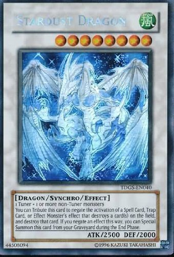 Yu-Gi-Oh! - Stardust Dragon (TDGS-EN040) - The Duelist Genesis - Unlimited Edition - Ghost Rare by Yu-Gi-Oh! (Image #1)