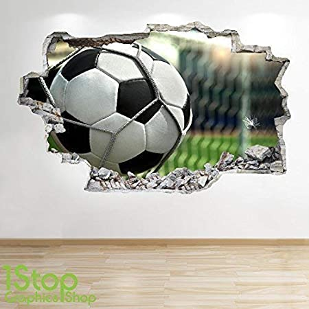 c127fff3 1Stop Graphics Shop FOOTBALL STADIUM WALL STICKER 3D LOOK - BOYS KIDS  BEDROOM WALL DECAL Z531 Size: Large