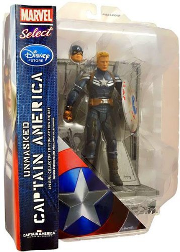 Captain America The Winter Soldier Exclusive Marvel Select Action Figure Unmasked Captain America [Battle Damaged] by Captain America The Winter Soldier