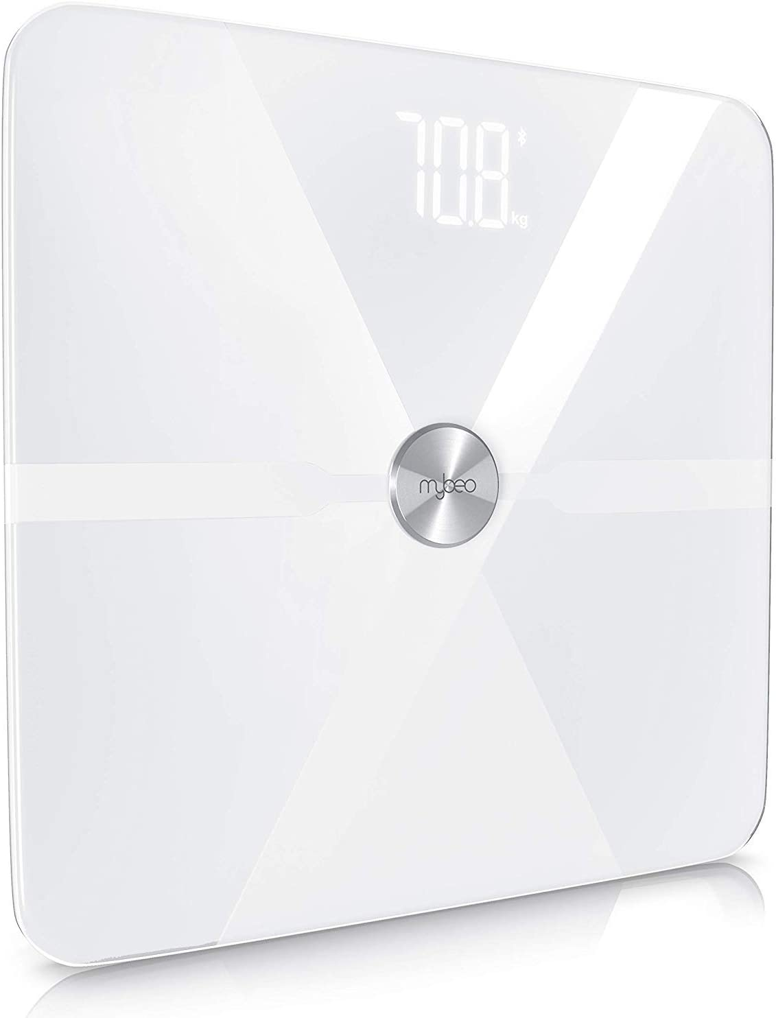 MyBeo – Báscula de baño digital  Báscula para medir nivel de grasa   Balanza digital multifunción   Rango de peso 5-180 Kg   GEstionable através de App