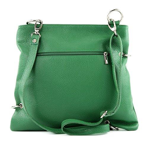 cuir Grün de dames sac Messenger sac sac sac bandoulière à en modamoda cuir ital en NT07 2in1 7nxWUtWSaA