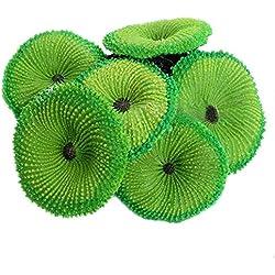 Zeroyoyo Aquarium Fish Tank Decor Artificial Coral Soft Plant Fresh / Salt Water Ornament 6.5 x 6 x 2.6cm 1pc