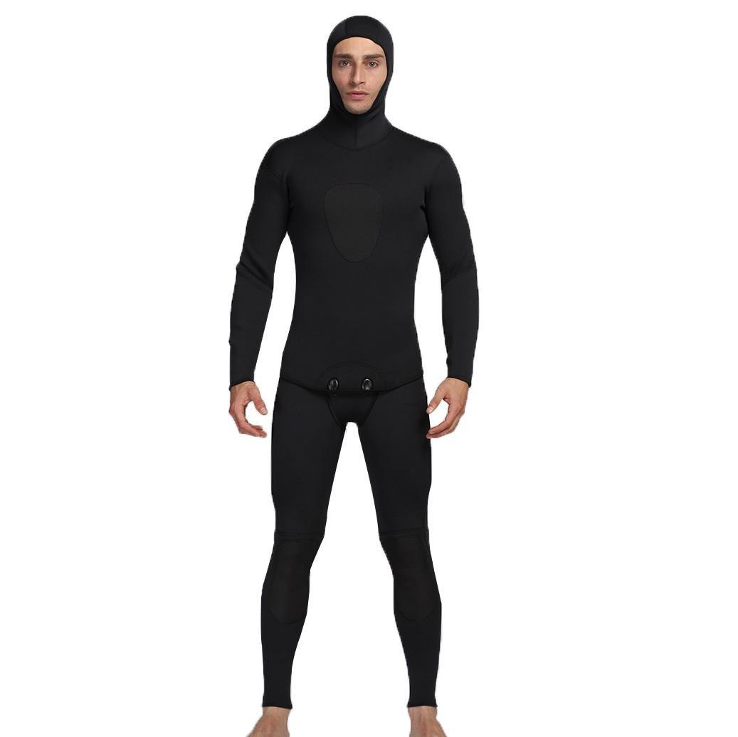 Axjzh 5mm Volle Länge Neopren Neoprenanzug Männer Sportbekleidung Wasserdicht Jagd Fisch Mit Kapuze Tauchanzug