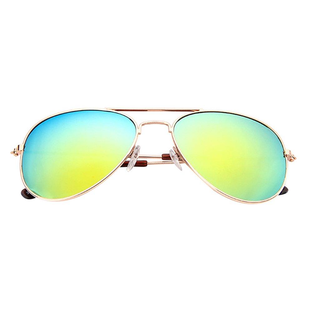 Baby Vintage Sunglasses,Yamally Infant Retro Classic Anti-UV Color Film Eyeglass (Multicolor E)
